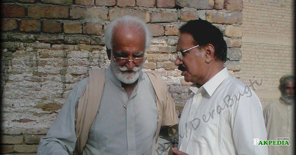 Akbar Bugti with Ameen Faheem