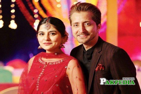 Sanam with her ex husband Farhatullah