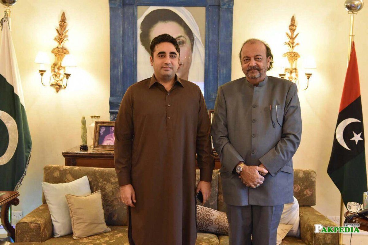 Speaker Sindh with Bilawal Bhutto at his residence