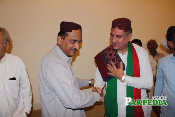 With Shah Mehamood Qureshi