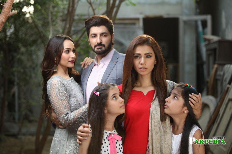 Faryal Mehmood on sets of 'Tum se hi taluq hai'