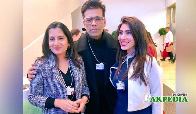 Hina Pervaiz with Karan Johar