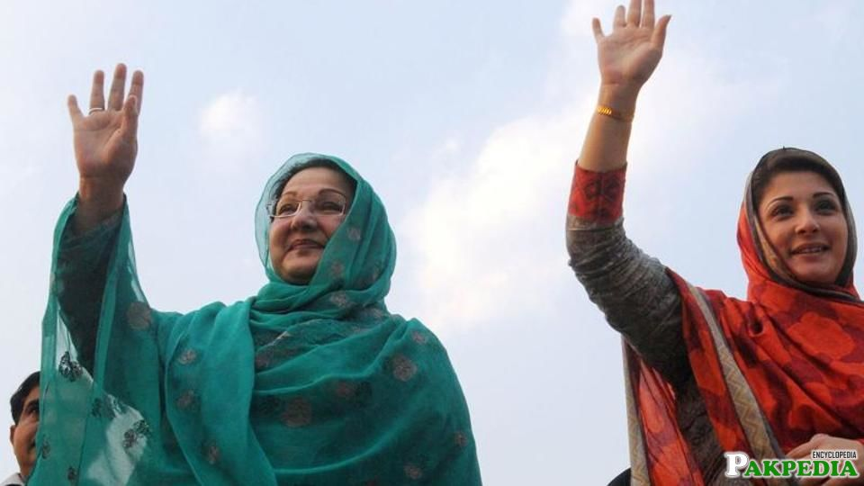With Kulsoom Nawaz
