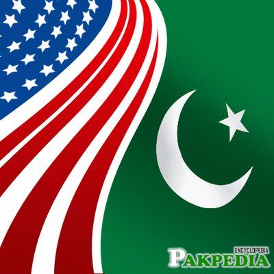 Flags of US and Pakistan