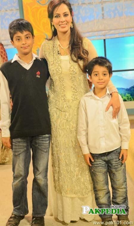 With her Two Sons