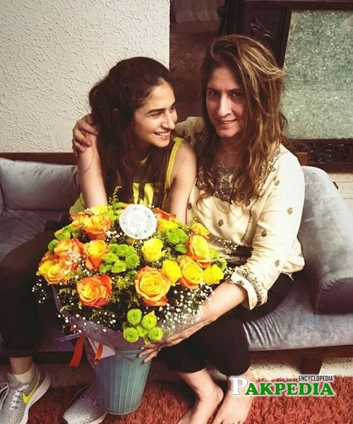 Natalia with her mother