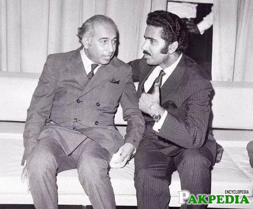 Ameen Faheem with Zulifqar Bhutto