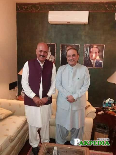 With Asif Ali Zardari