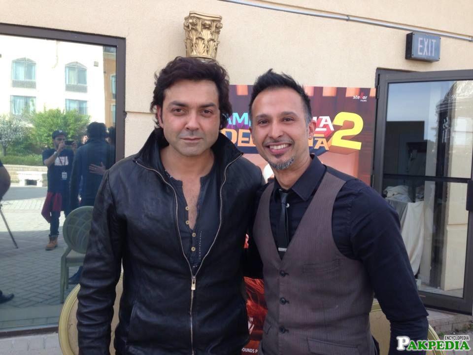 Ali Kazmi with Bobby Deol