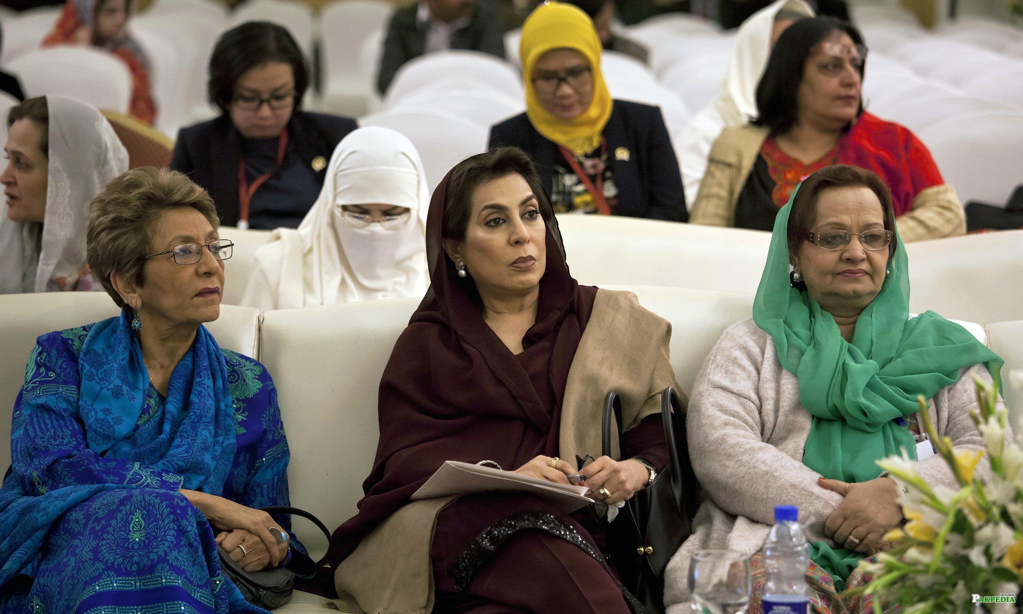 With Ex-Speaker Fehmeeda Mirza