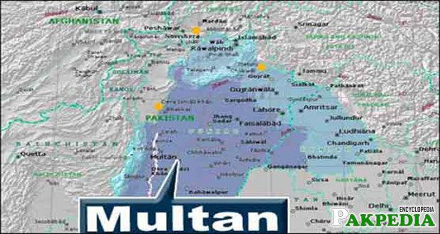 Map of Multan City