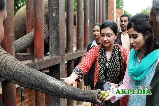 During her visit of zoo