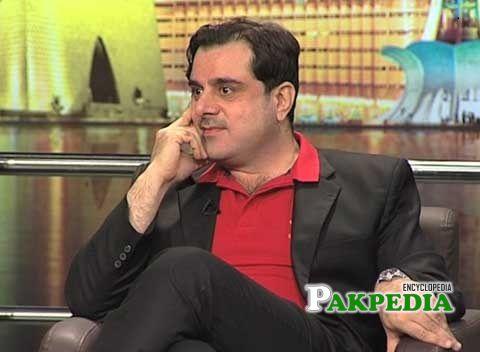 Bilal Yasin at a talk show