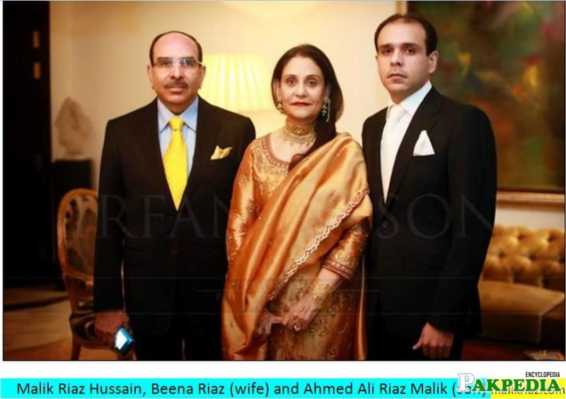 Malik Riaz with his wife and kids