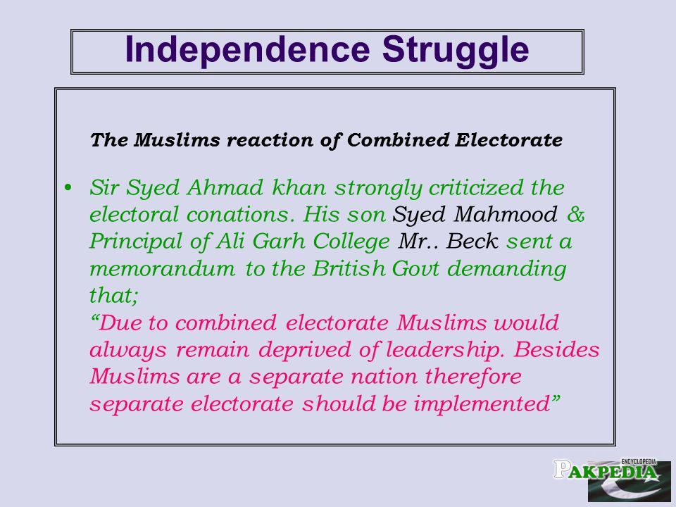 Independence struggle