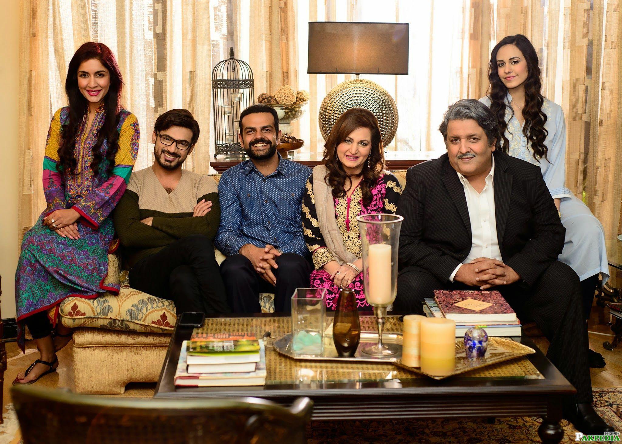 Saman Ansari With TV Actress.Actors