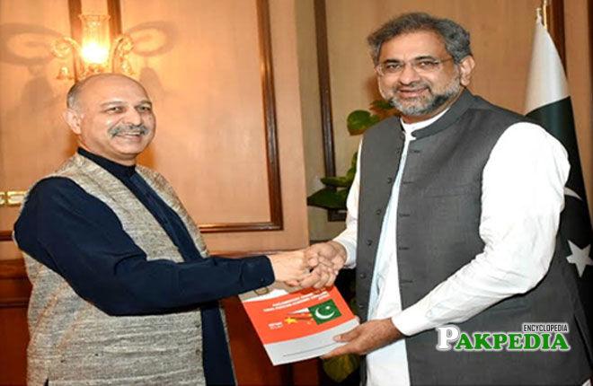 With Prime Minister Shahid Khaqan Abbasi