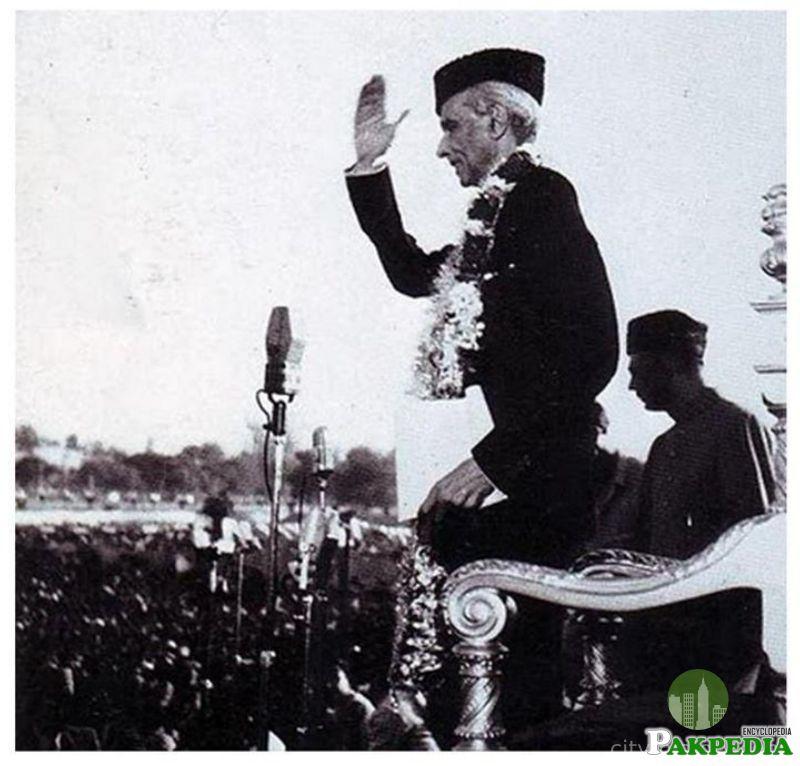 M.A Jinnah at Lahore