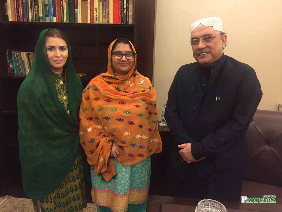 With Asif Zardari