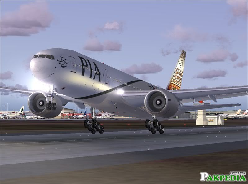 Pakistan International Airlines Taking Off