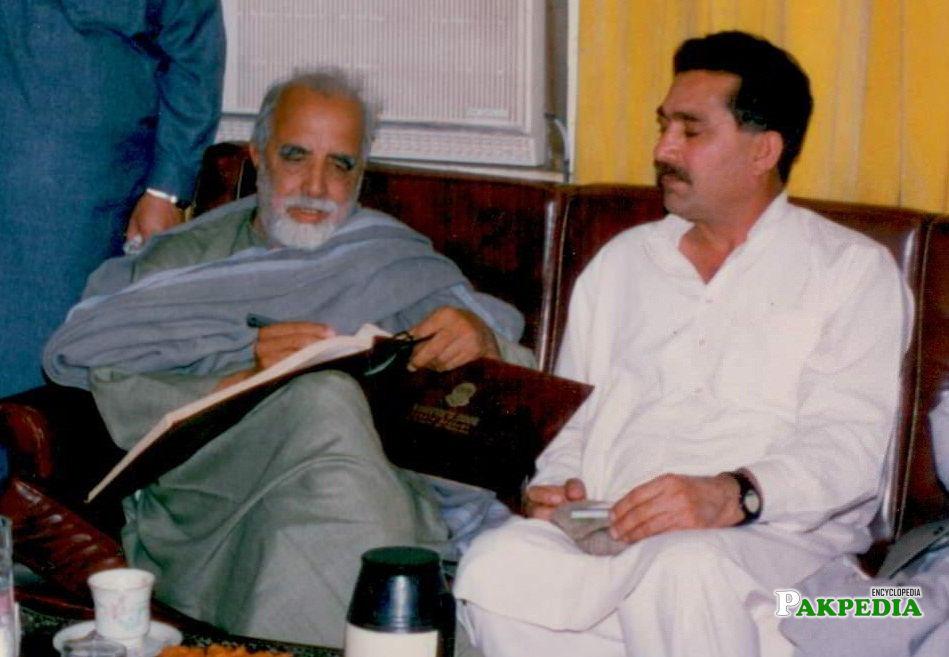 Ajmal khattak & Raj Wali shah Khattak