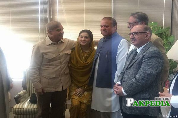 Justice Ahmad with Nawaz Family