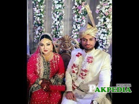 Uroosa Siddiqui with her husband Saqib Khan