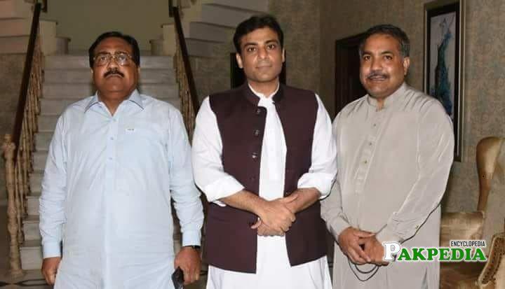 Muhammad Arshad Malik with Hamza Shahbaz