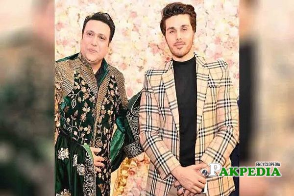 Ahsan with Indian actor Govinda