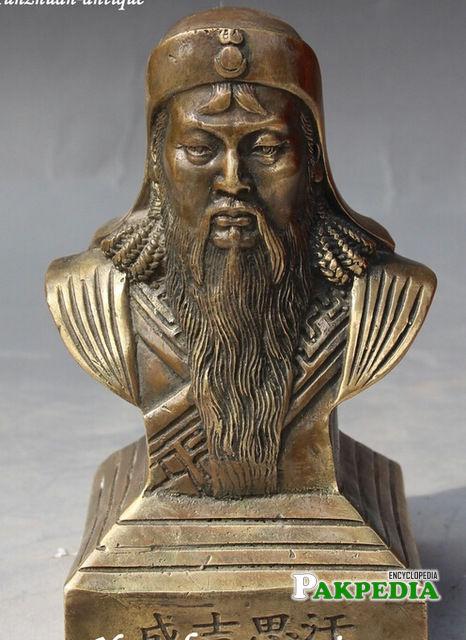 Genghis Khan's bust