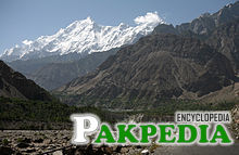 Hunza Valley near Chalt and the west face of Rakaposhi