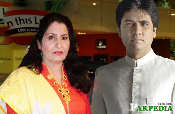 Wasi Shah with his Wife