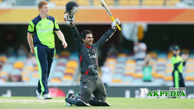 Shaiman Anwar after his victory in Test series