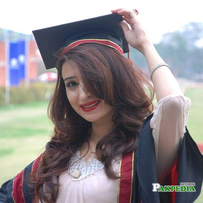 Bushra Anjum at her graduation day