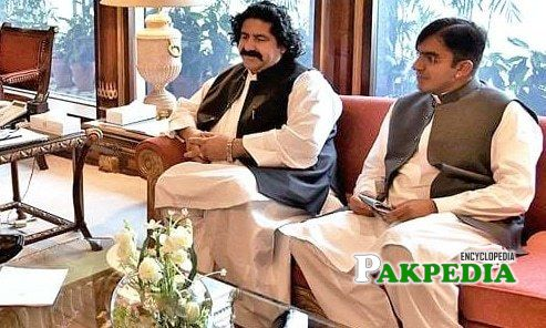 Ali Wazir with Mohsin Dawar at PM house