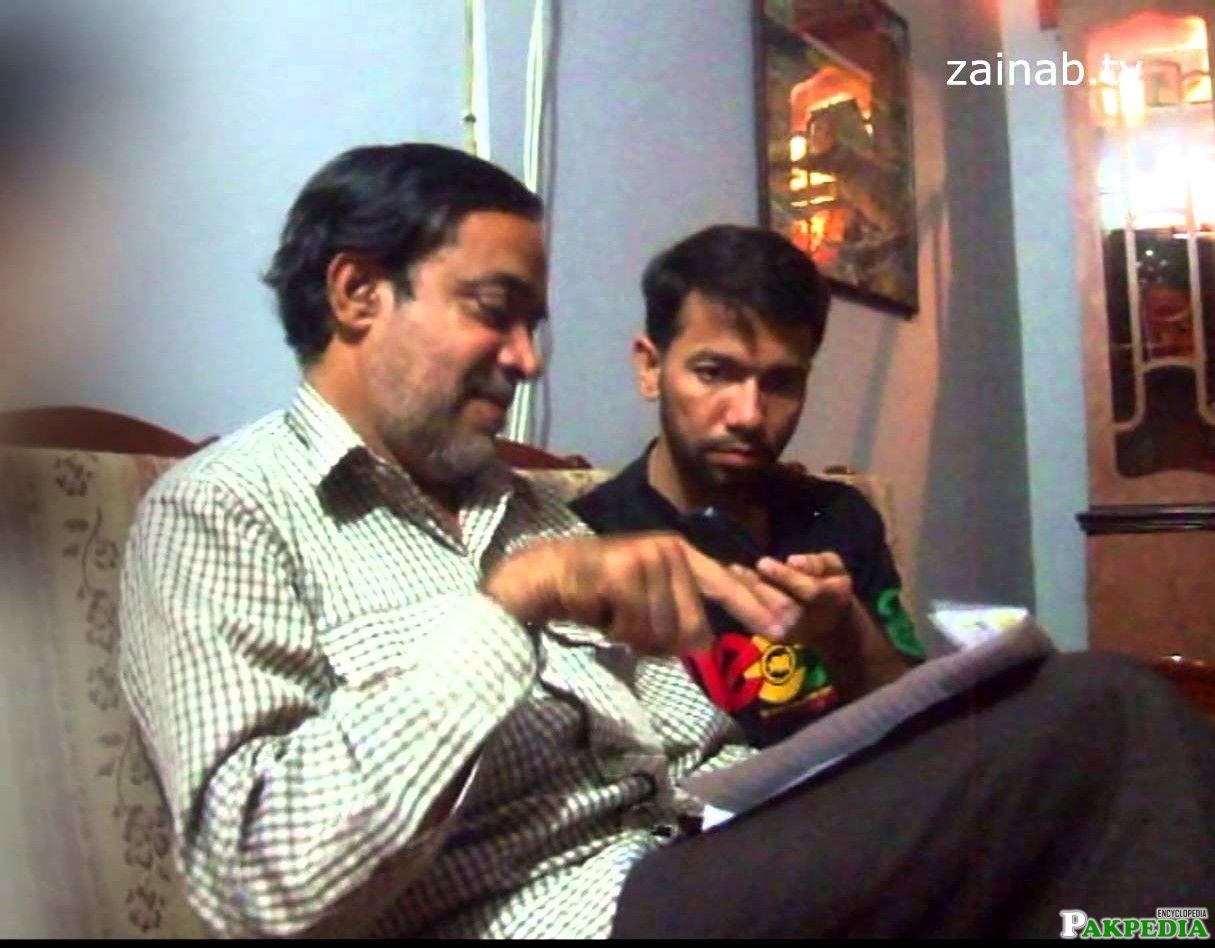Shaheed ustad teaching his student Ali safdar