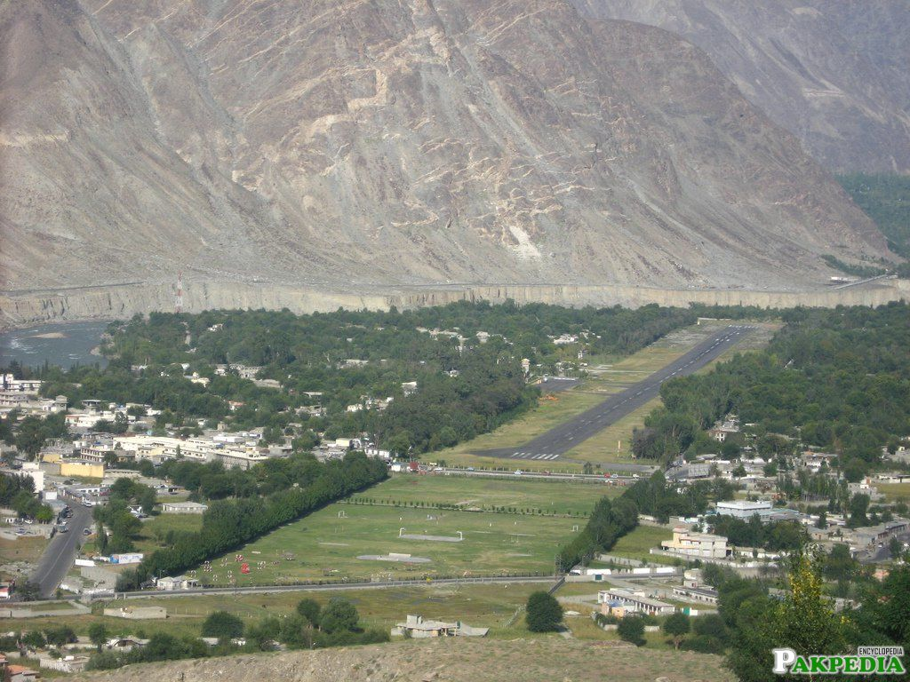 Gilgit Airport Areal View