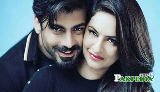Fawad Khan with his wife Sadaf during a photoshoot