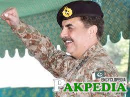 General Raheel Shareef is speeching