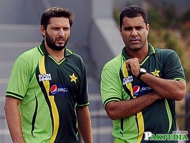 Waqar Younis and Afridi