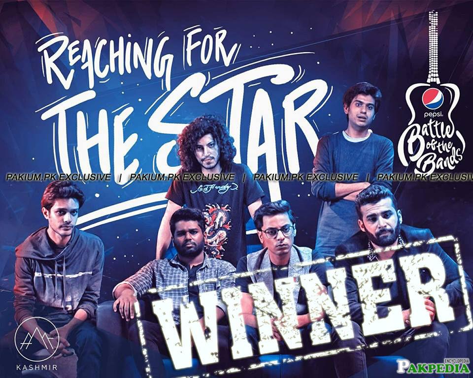 Winners of Pepsi battle of band