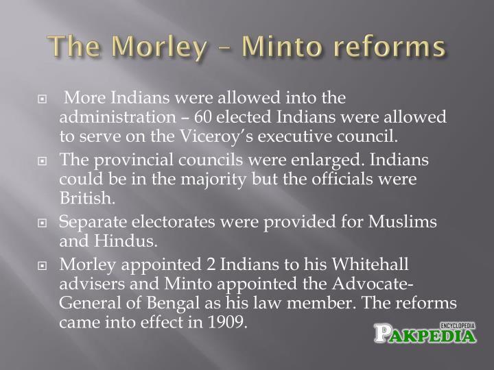Morley-Minto reforms