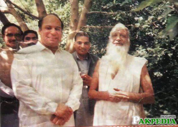 Barkat Ali Ludhianwi with Nawaz Sharif