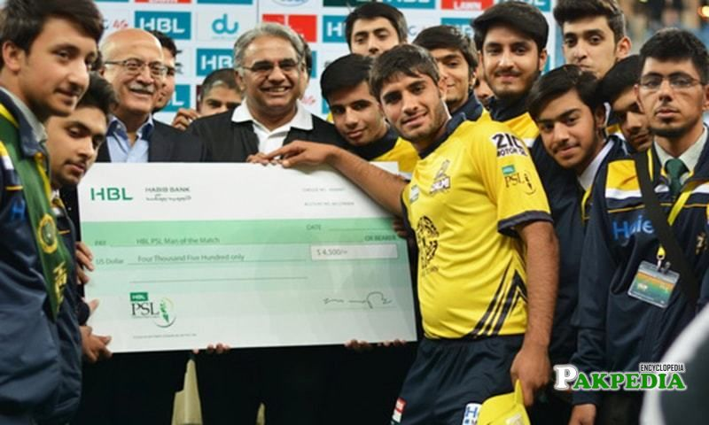 With PSL Cricket Team