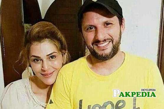 Sana Bucha and Shahid Khan Afridi
