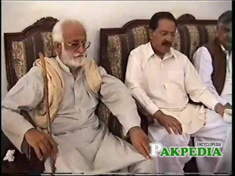 Akbar Bugti attend a press meeting
