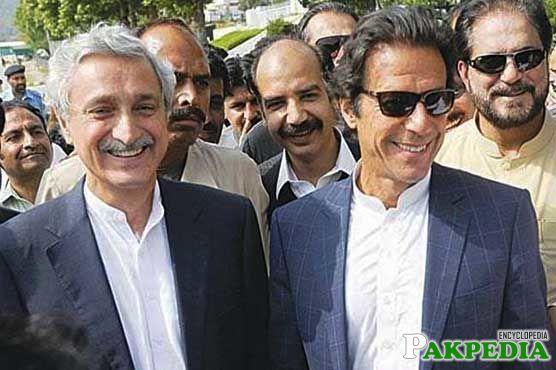 Jahangir Tareen with Imran Khan