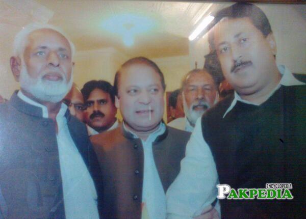 Rai Haider Ali Khan with Nawaz Sharif