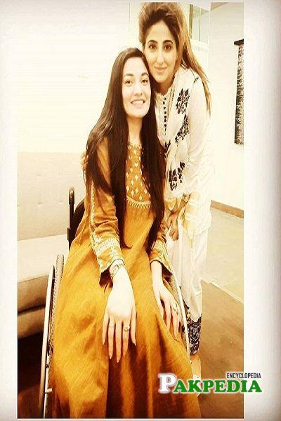 Fatima Sohail with Muniba Mazari