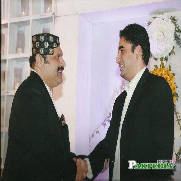 Ali Nawaz Khan with Bilawal Bhutto